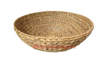 Round Water Hyacinth Tray